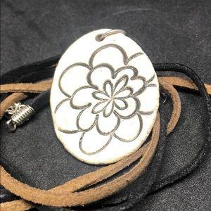 Boho Ceramic Flower Power Necklace